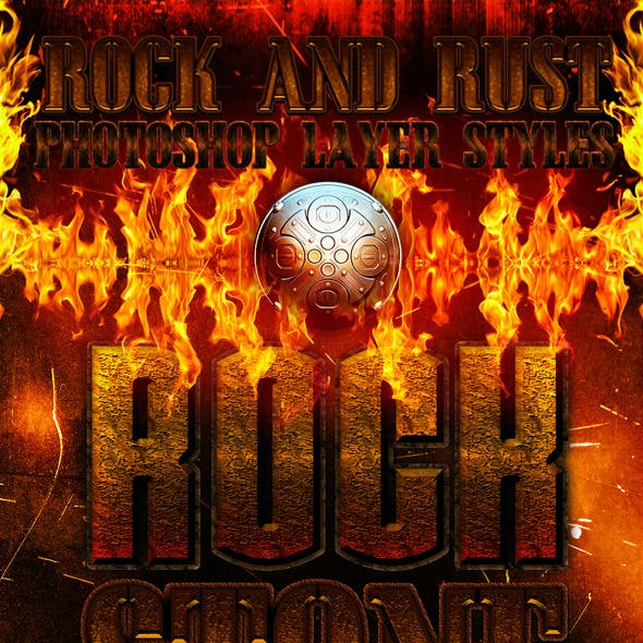 Rock and rust photoshop layer styles