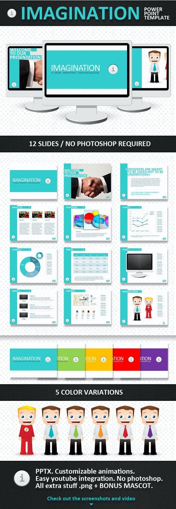 Imagination PowerPoint Template - PowerPoint Templates Presentation Templates