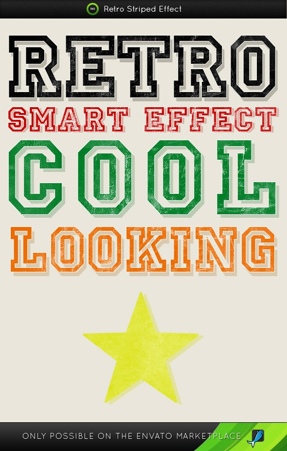 Retro Stripes Styles  - Text Effects Styles