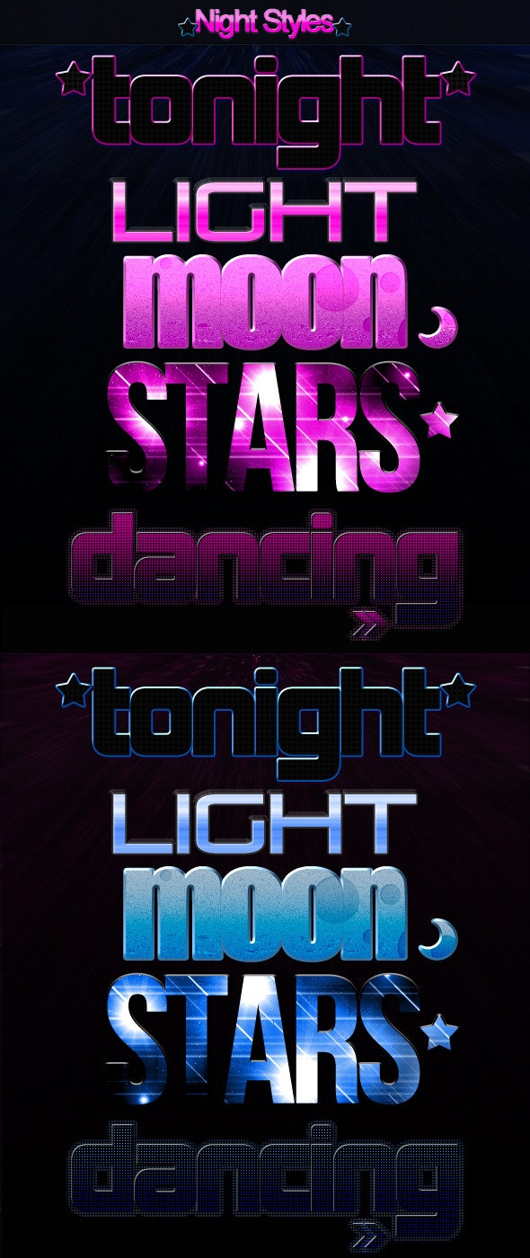 Night Styles - Text Effects Styles