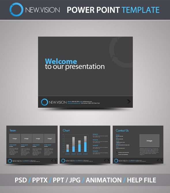 NewVision PowerPoint Template - PowerPoint Templates Presentation Templates
