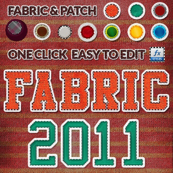 Fabric & Patch Photoshop Layer Styles Pack