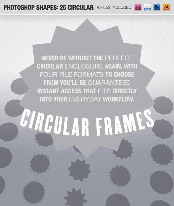 25 Circular Frames - Shapes Photoshop