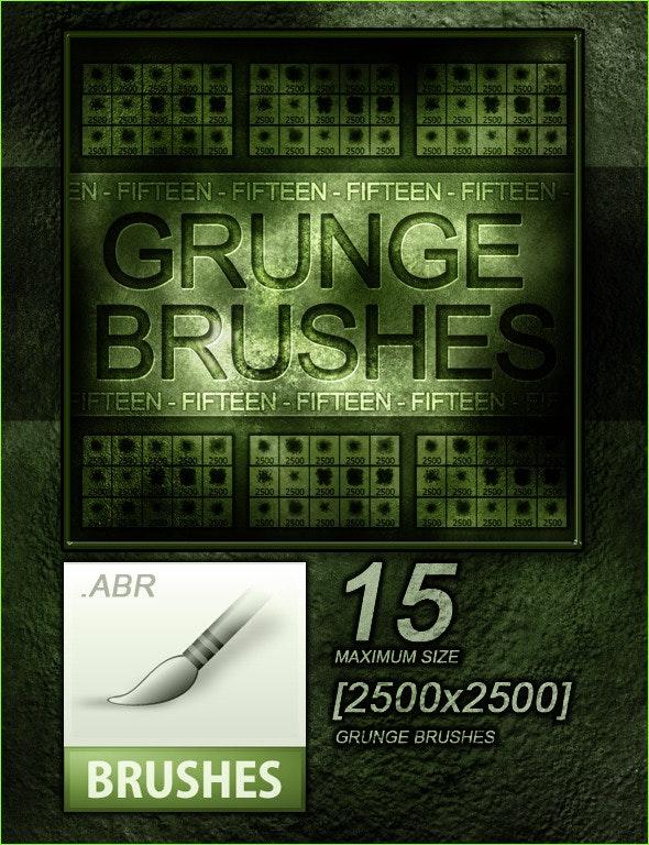 15 Grunge Hi-Res Photoshop Brushes [2500x2500] - Brushes Photoshop