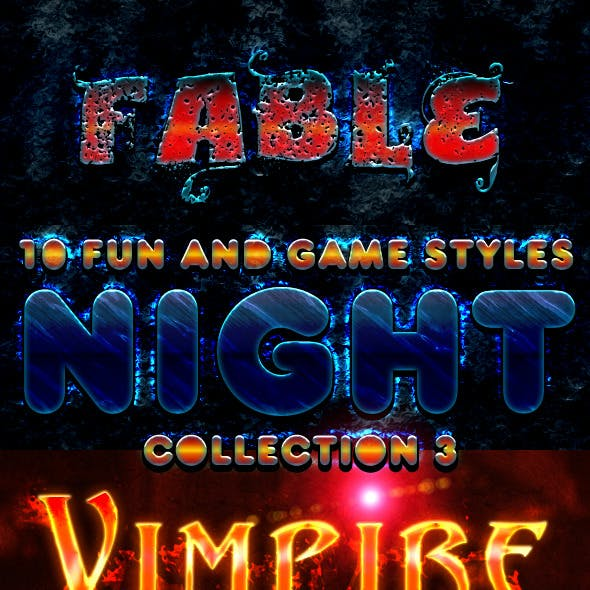 Fun And Game Photoshop Styles - Collection 3