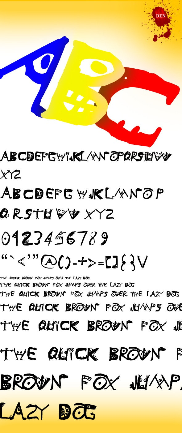 Monstriska TrueType Font File