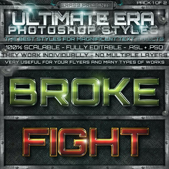 Ultimate Photoshop Styles 1 of 2