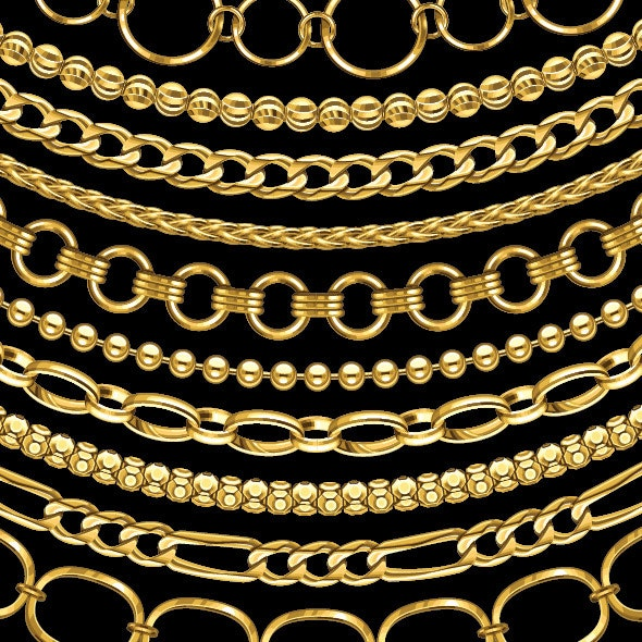 Gold Chain Jewelry  - Miscellaneous Brushes
