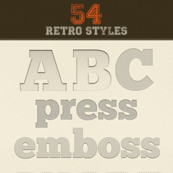 56 Retro Layer Styles