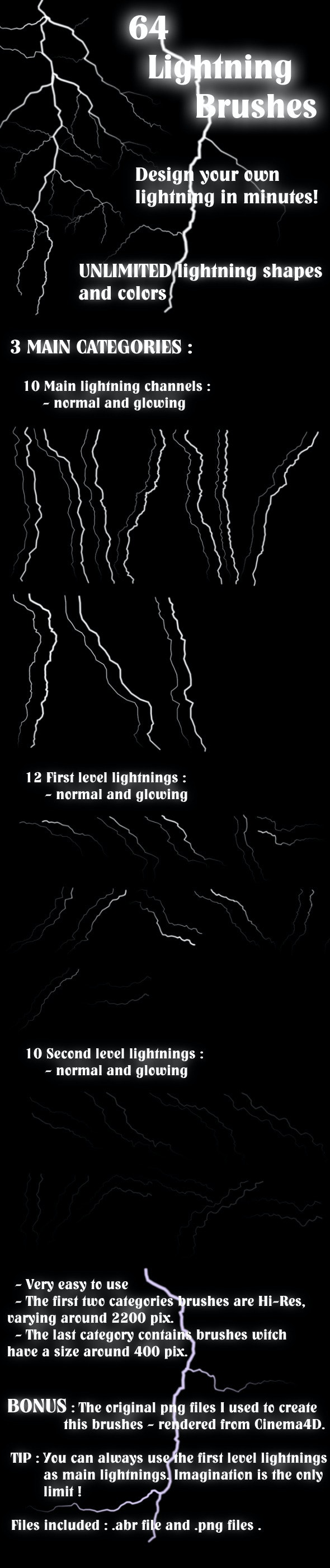 Lightnings Brush Set - Abstract Brushes