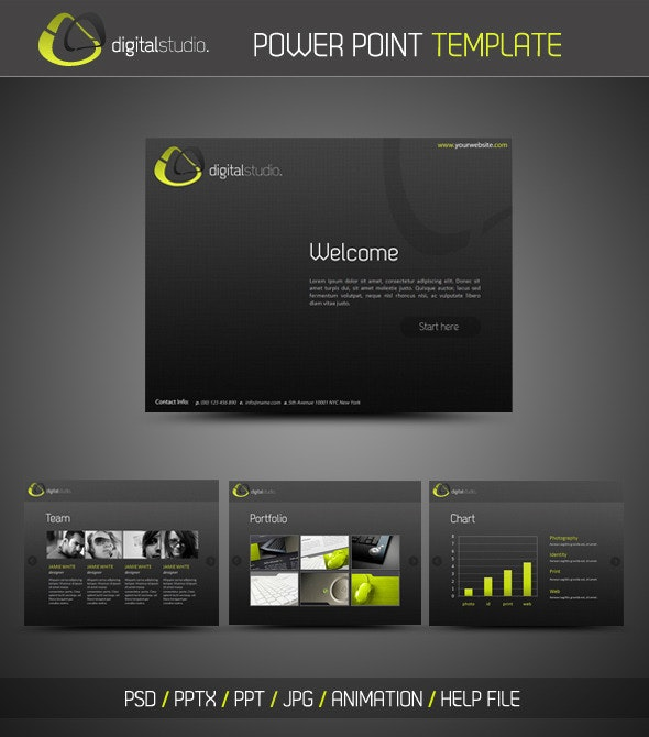 Digital Studio PowerPoint Presentation - PowerPoint Templates Presentation Templates