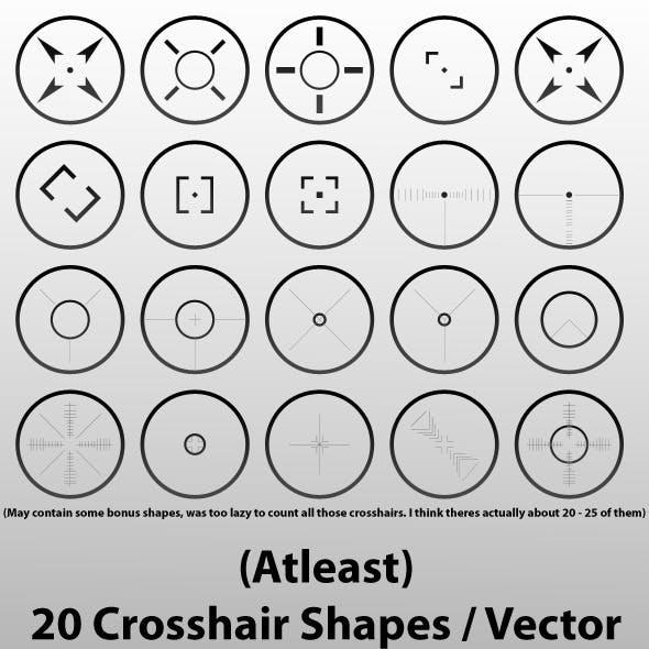 Atleast 20 Crosshair Shapes for Adobe Photoshop