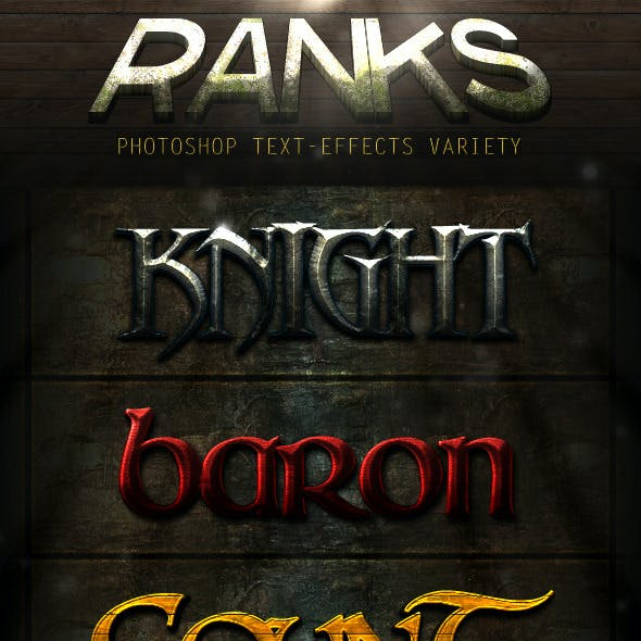 Photoshop Text Syles - Ranks