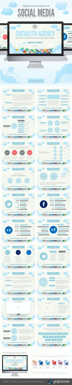 Social Media Presentation Template - PowerPoint Templates Presentation Templates