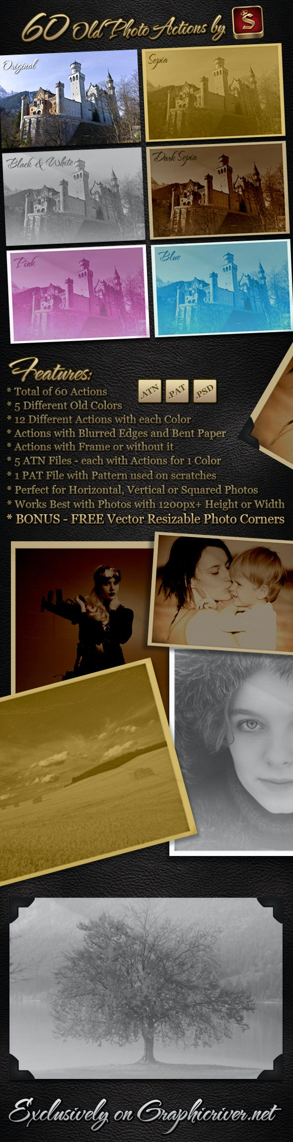60 Old Photo Actions - Photo Effects Actions