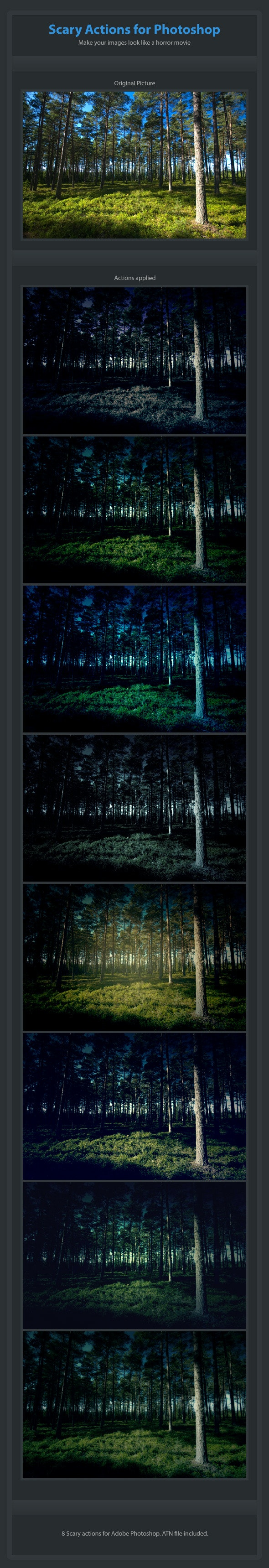 8 Scary Actions for Adobe Photoshop - Photo Effects Actions