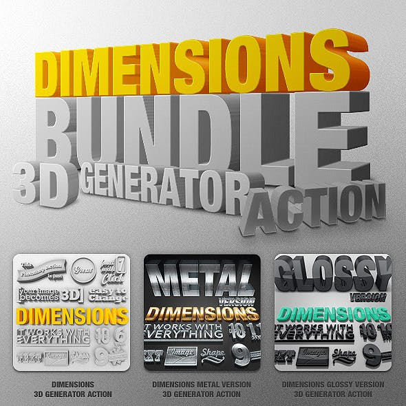 Bundle - Dimensions - 3D Generator Action