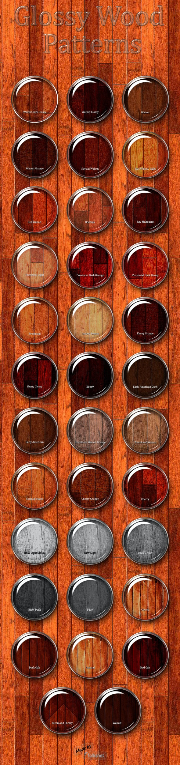 Wood Patterns - Nature Textures / Fills / Patterns