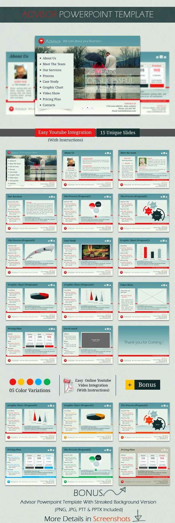 Advisor PowerPoint Template - Finance PowerPoint Templates