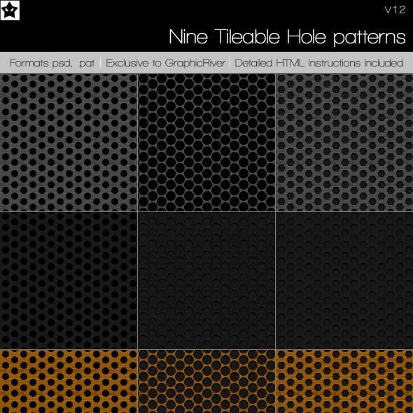 9 Tileable Hole Patterns
