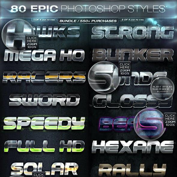 80 EPIC PHOTOSHOP STYLES [BUNDLE]