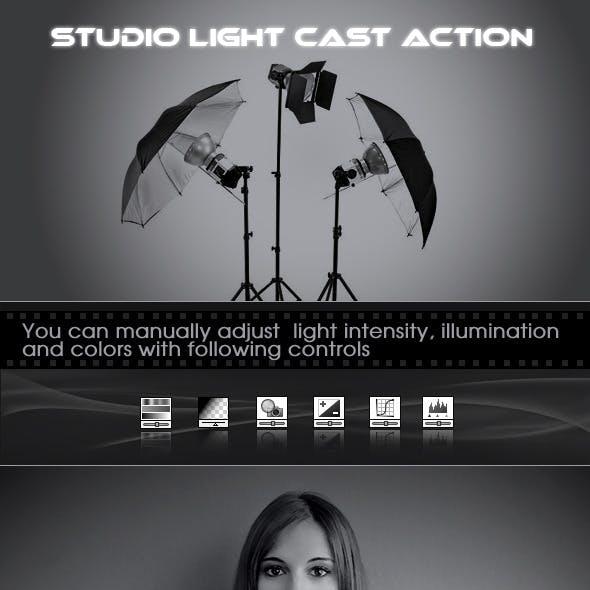 Studio Light Cast Photoshop Action