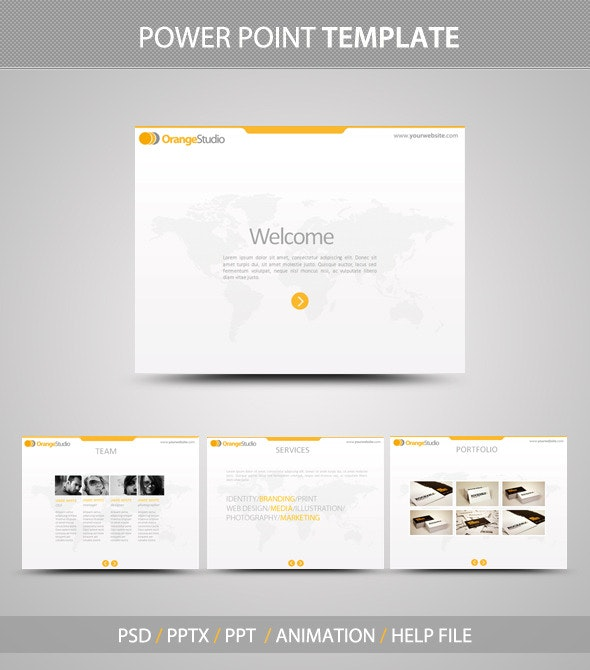 OrangeStudio PowerPoint Template - PowerPoint Templates Presentation Templates
