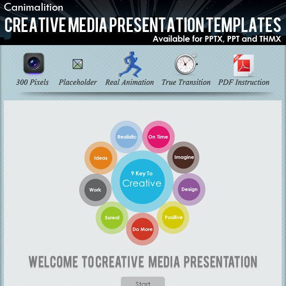 Creative Media Presentation Templates