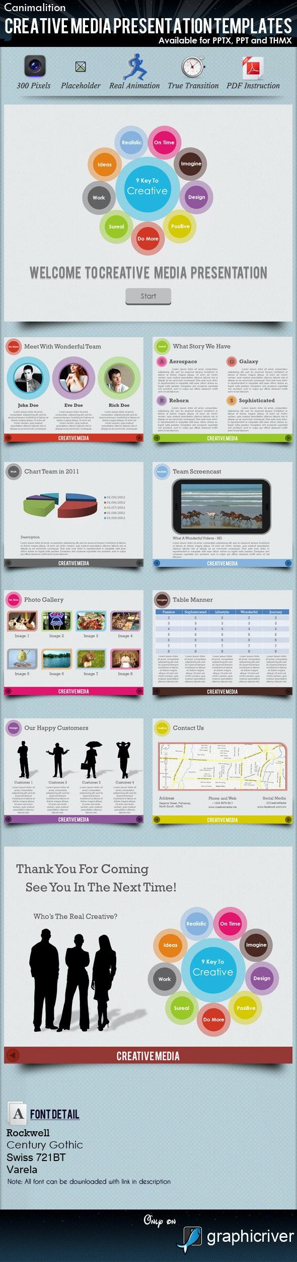 Creative Media Presentation Templates - Creative PowerPoint Templates