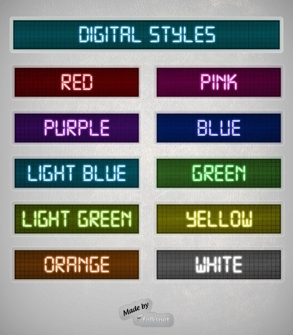 Digital Styles - Text Effects Styles