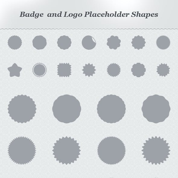 Badge and Logo Placeholder Shapes