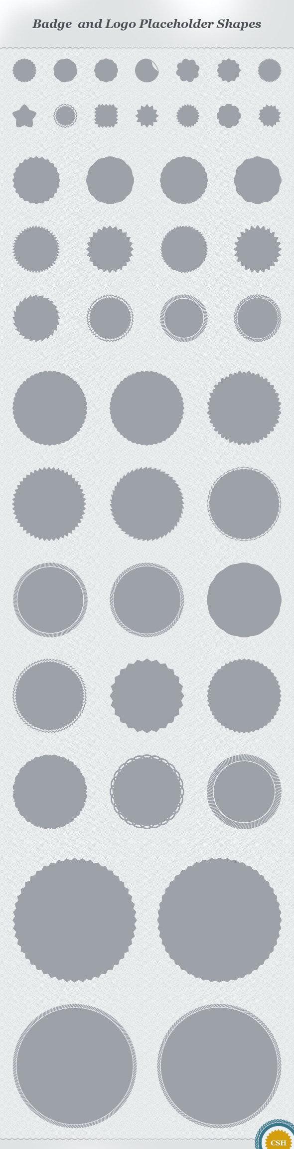 Badge and Logo Placeholder Shapes - Shapes Photoshop