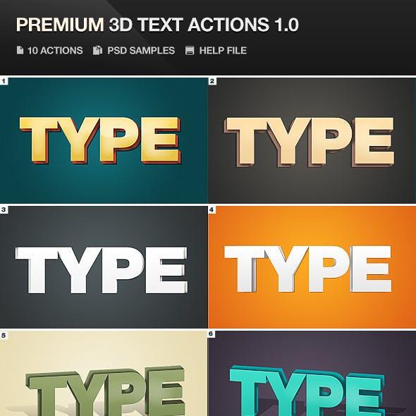 Premium 3D Text Actions