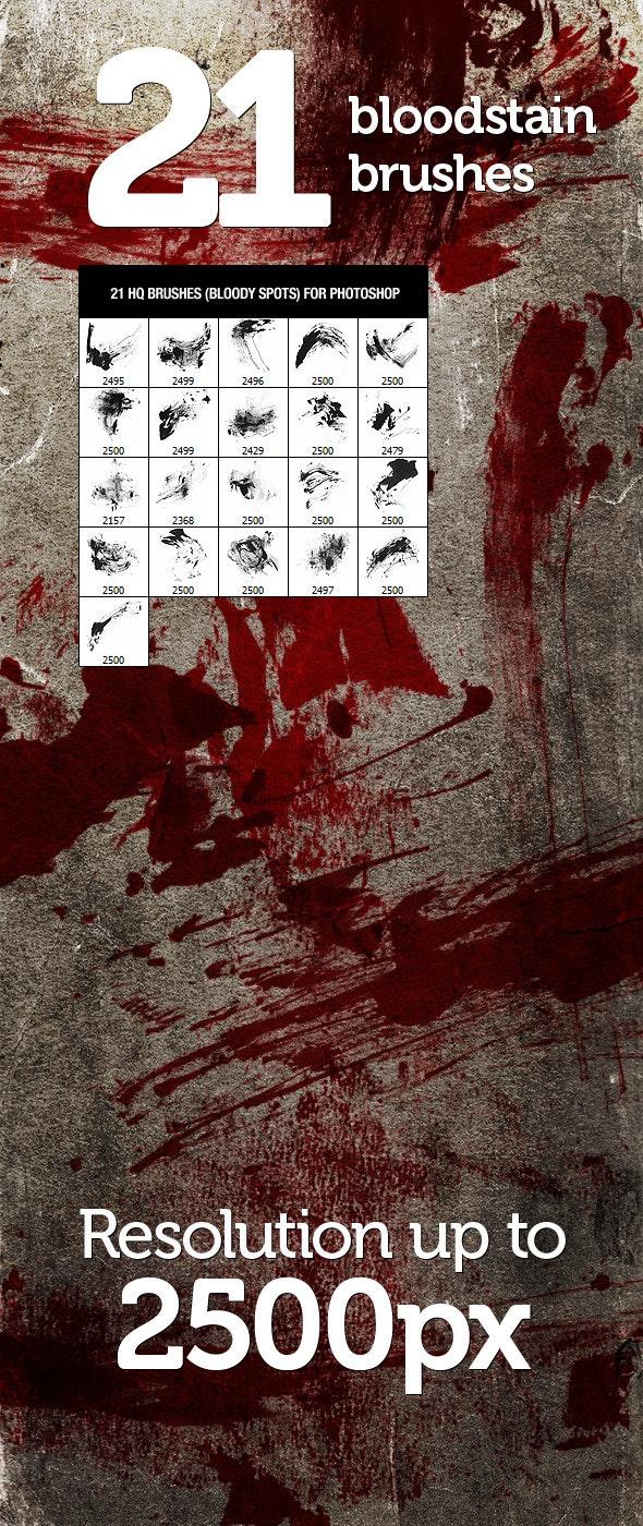 21 Bloodstain Photoshop Brushes - Brushes Photoshop