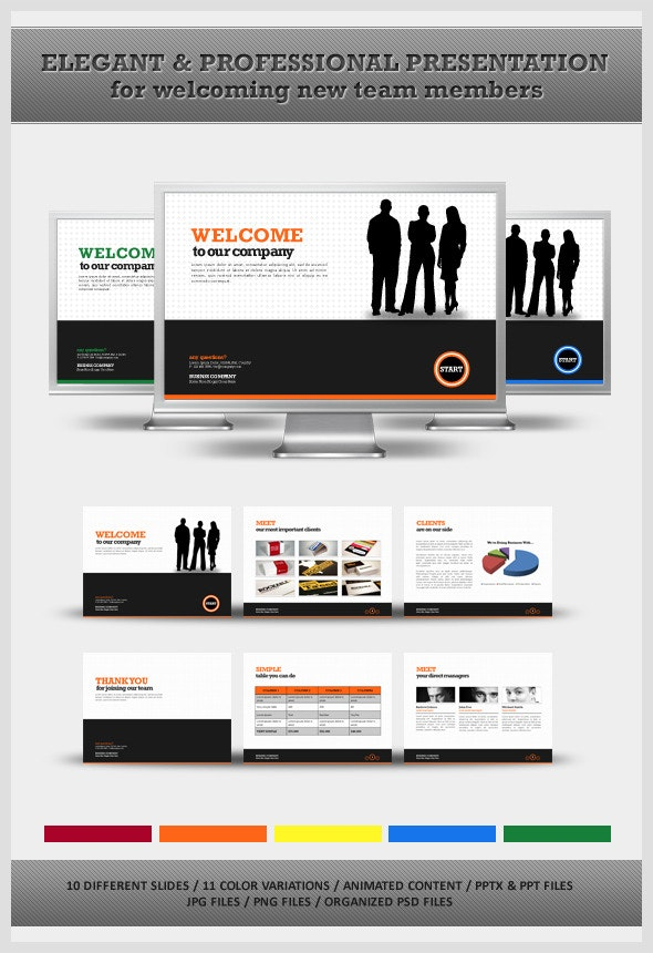 Welcome Your New Team Members Powerpoint - PowerPoint Templates Presentation Templates