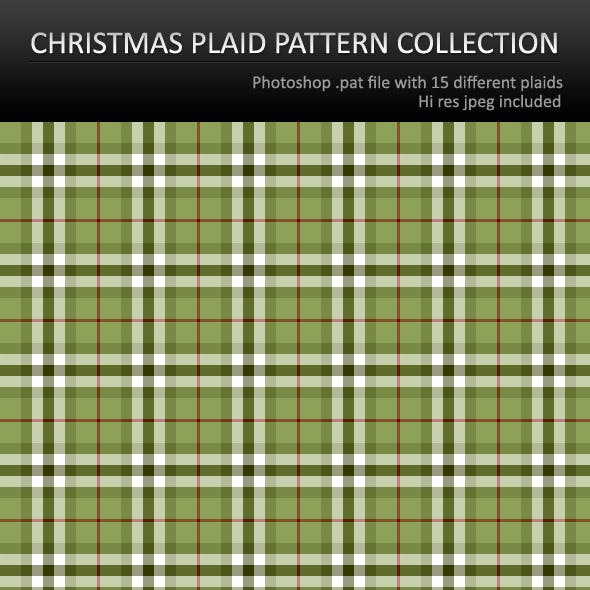Christmas Plaid Patterns For Photoshop