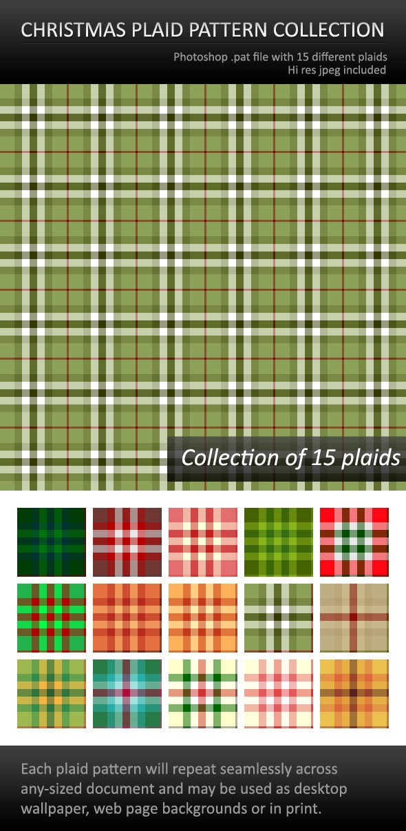 Christmas Plaid Patterns For Photoshop - Text Effects Styles