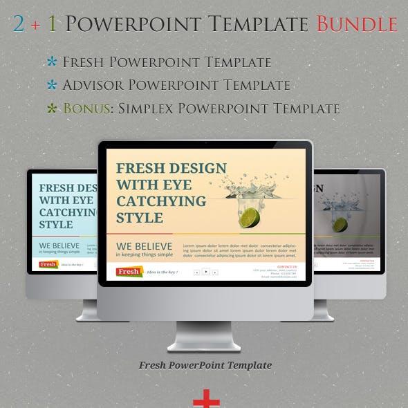 2+1 Powerpoint Templates Bundle