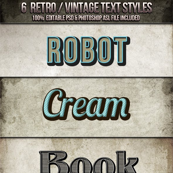 Vintage - Retro Text Styles
