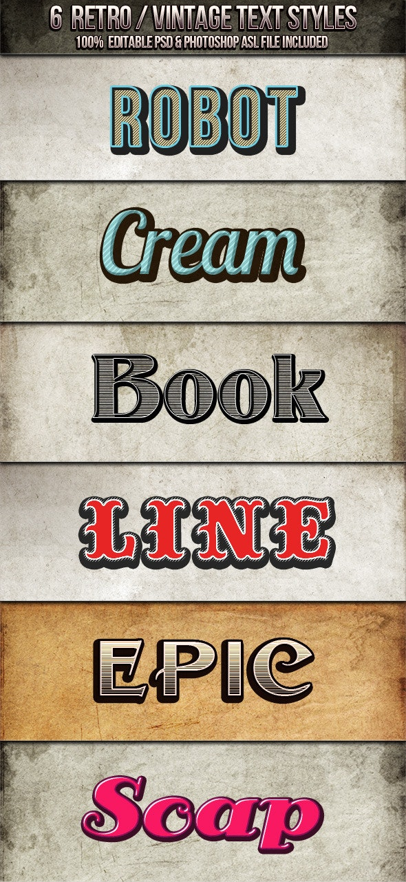 Vintage - Retro Text Styles - Text Effects Styles