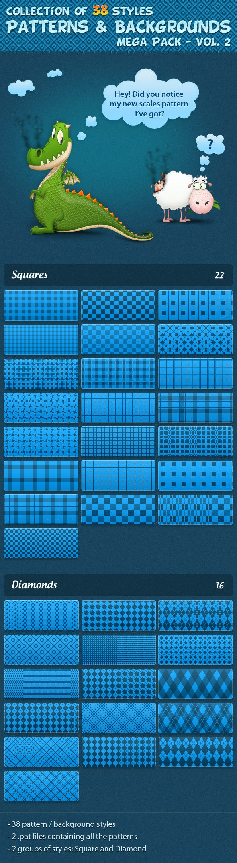 Patterns vol. 2 - Textures / Fills / Patterns Photoshop