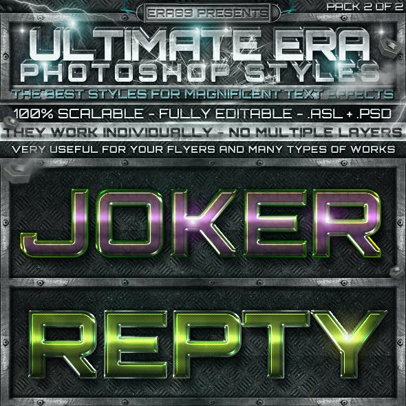 Ultimate Photoshop Styles 2 of 2