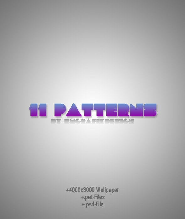 11 Photoshop Patterns - Techno / Futuristic Textures / Fills / Patterns