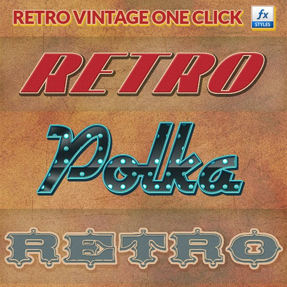 Retro Vintage Photoshop Layer Styles