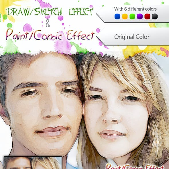 Draw / Sketch and Paint / Comic Effect Photoshop Action