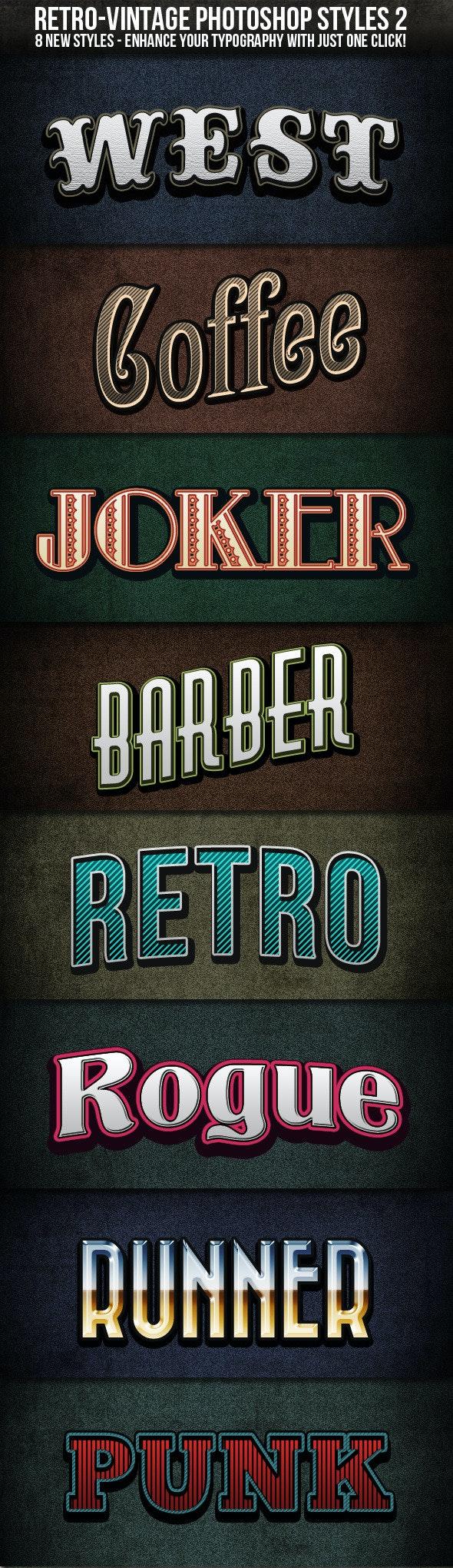 Retro-Vintage Styles 2 - Photoshop Add-ons
