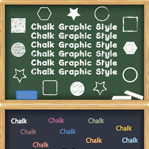 Chalk Board Graphic Style Illustrator