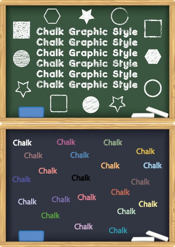 Chalk Board Graphic Style Illustrator - Styles Illustrator