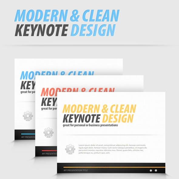 Modern and Clean Keynote Presentation