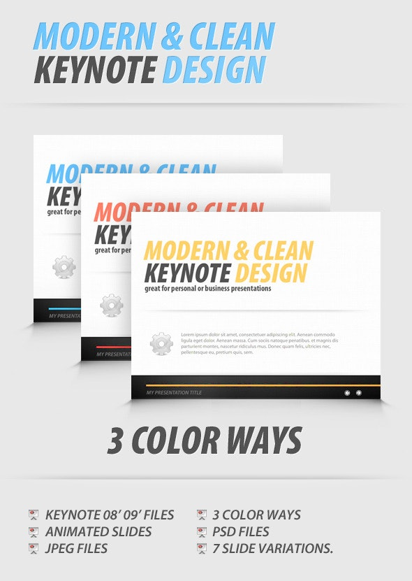 Modern and Clean Keynote Presentation - Creative Keynote Templates